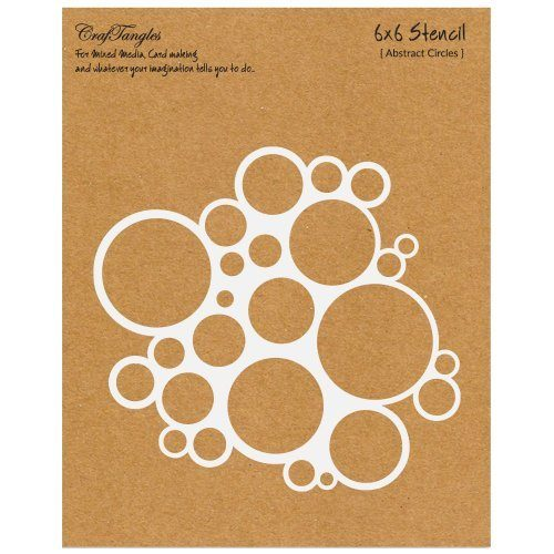 "CrafTangles 6""x6"" Stencil - Abstract Circles"