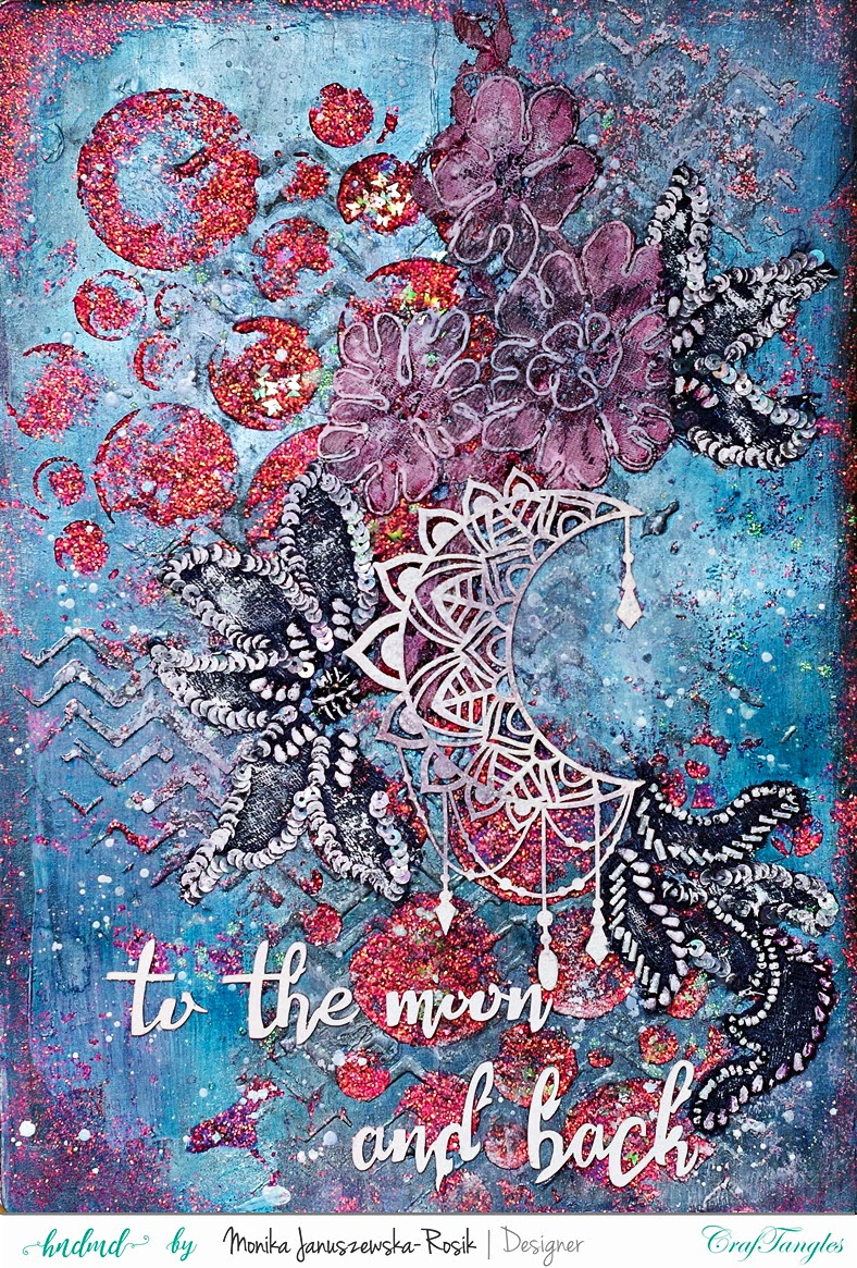 Mixed Media Art Journal with CrafTangles Glimmer Pastes 1