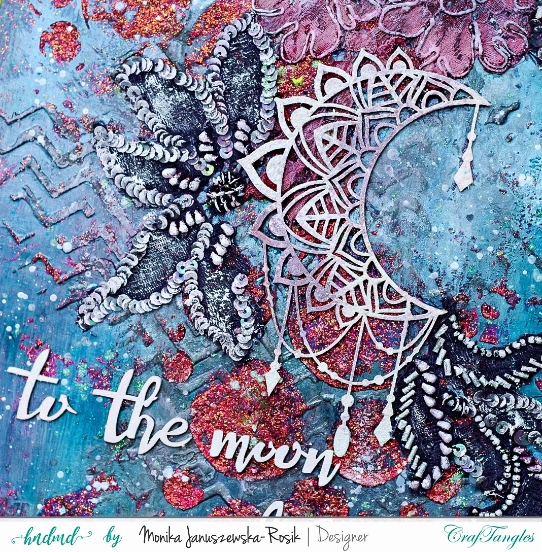 Mixed Media Art Journal with CrafTangles Glimmer Pastes 2