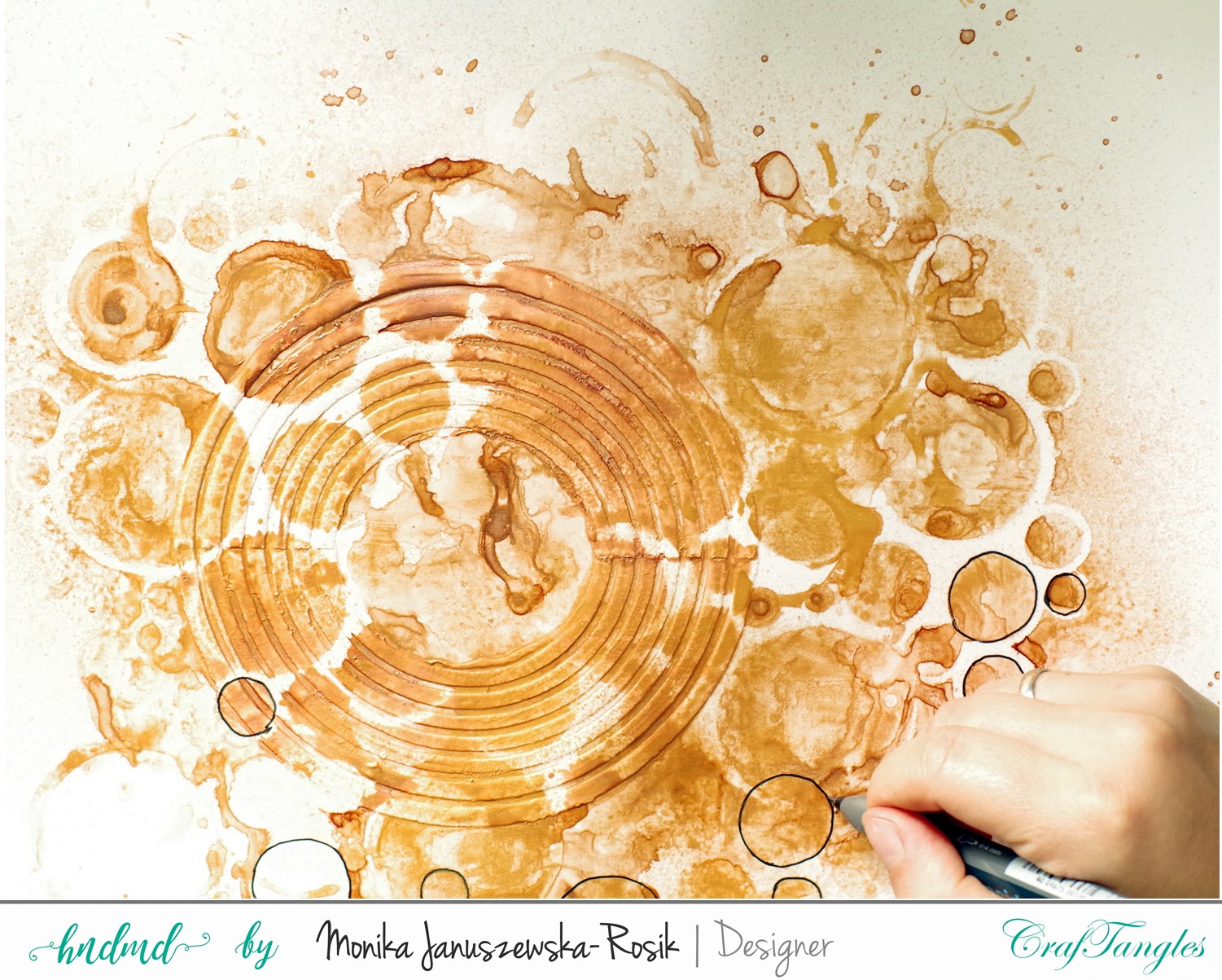 Mixed media Layout with CrafTangels stencils 9