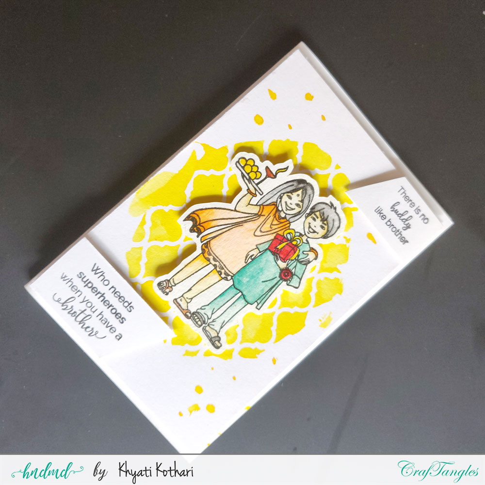Rakhi cards using CrafTangles products by Khyati 1