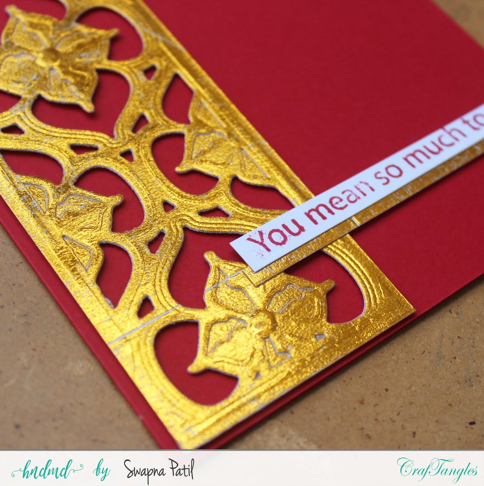 Foiled cards+Diecutting card 6