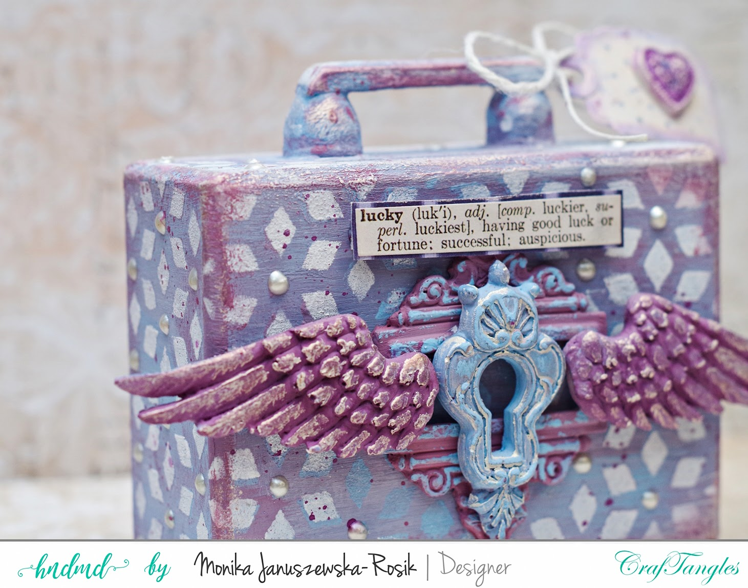 Altered moneybox painted with CrafTangles Chalky Paints 2