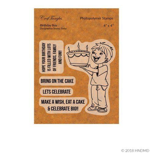 CrafTangles Photopolymer Stamps - Birthday Boy