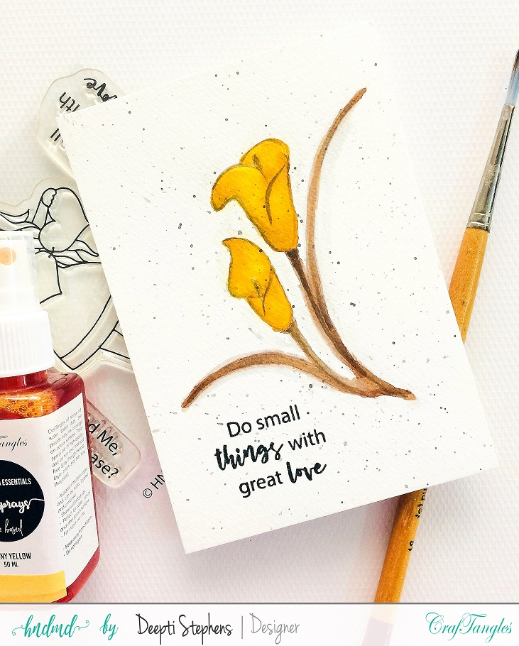 Water Color Cards with Art Sprays 2