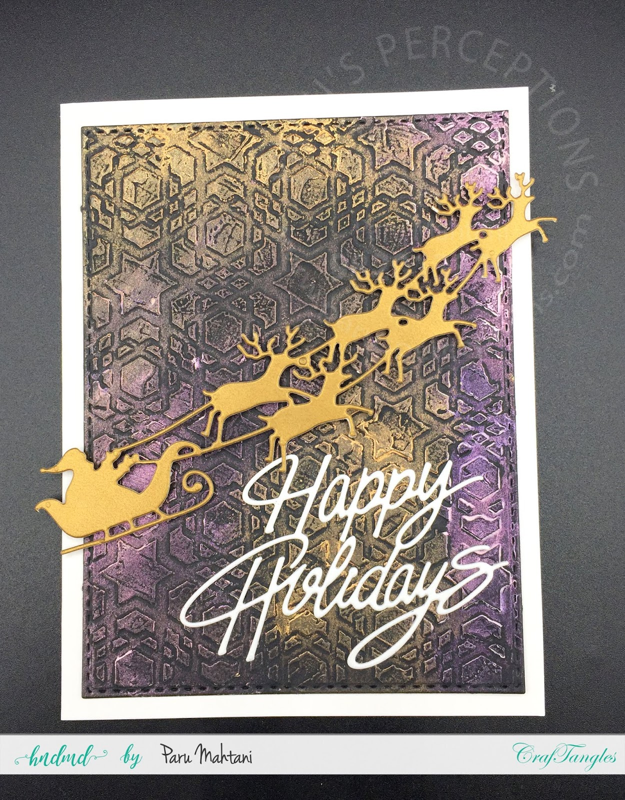 Christmas cards using textured backgrounds and art wax. 4