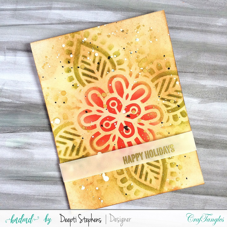 One Layered Stenciled Background Cards 3