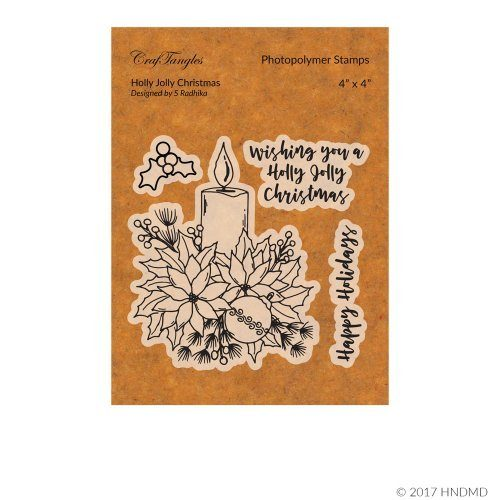CrafTangles Photopolymer Stamps - Holly Jolly Christmas