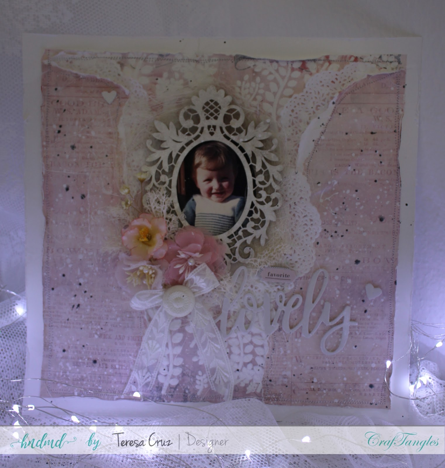 "Scrapbook Layout ""Lovely"" with process video 1"