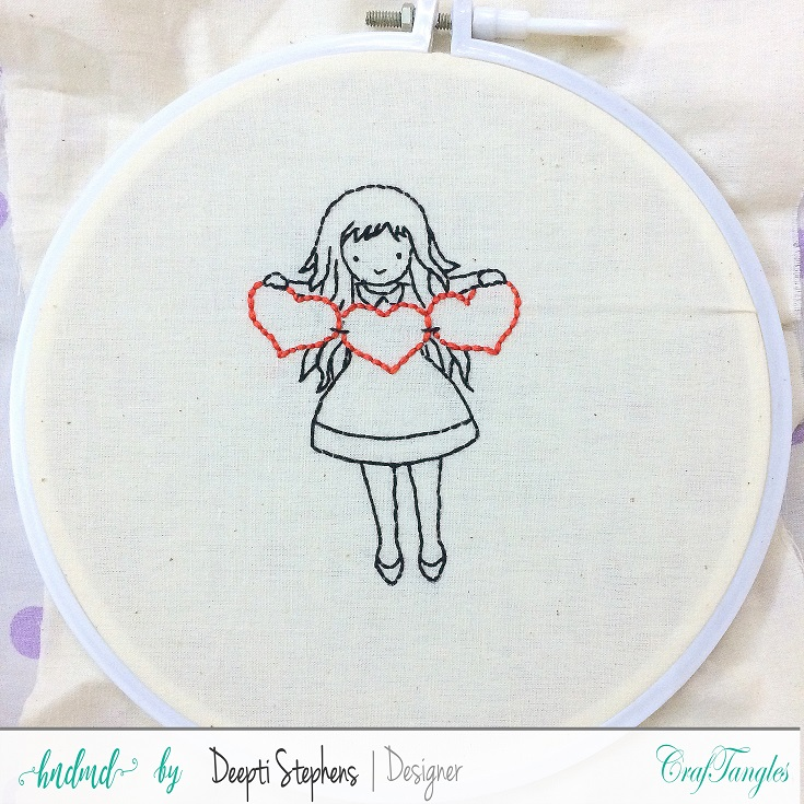 How to Embroider Stamped Images 2