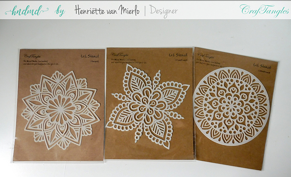 Craftangles stencils and embossing powder 1