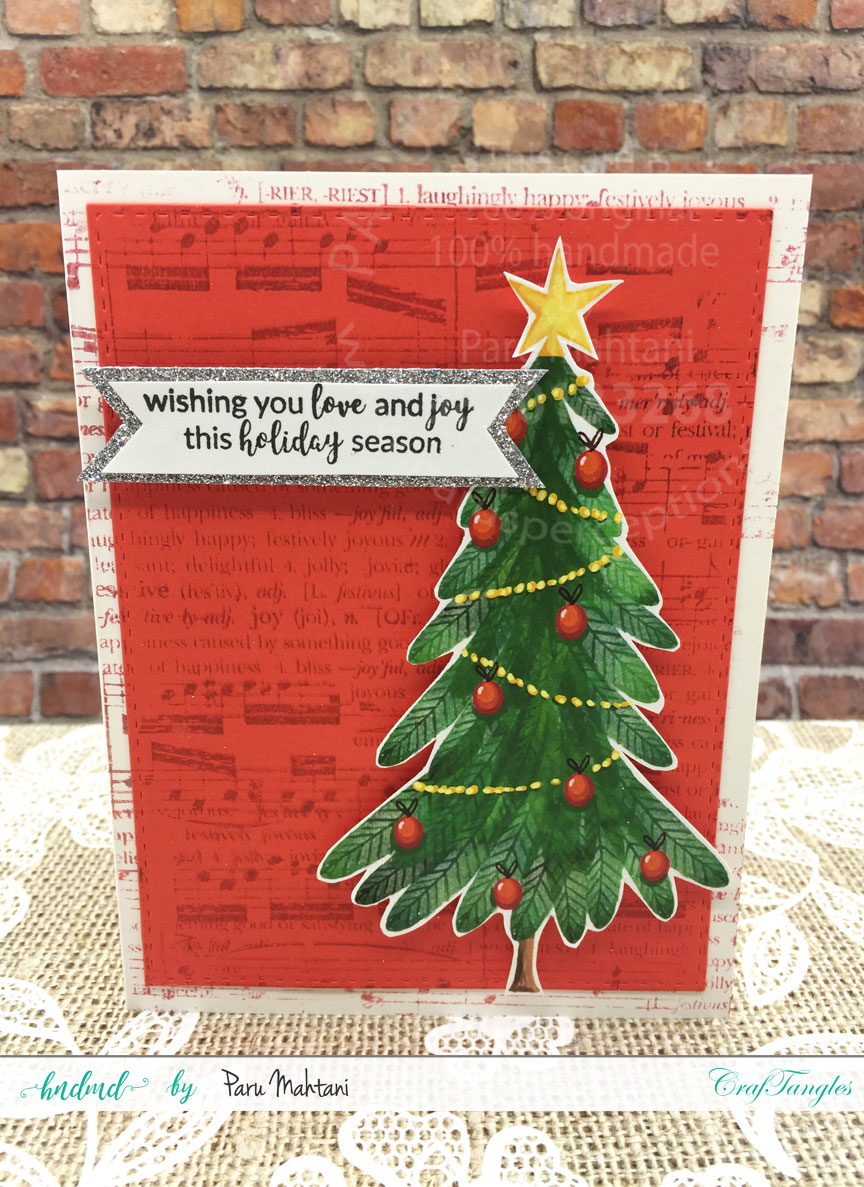 Christmas cards using patterned paper and Christmas elements pack. 11