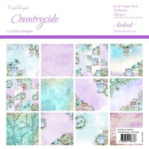 """CrafTangles Scrapbook Paper Pack - CountrySide (6""""x6"""")"""