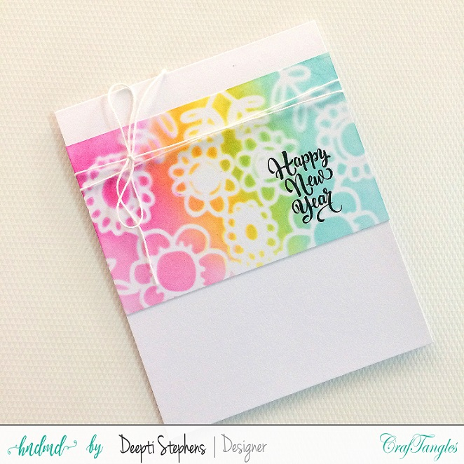 JANUARY CHALLENGE | ANYTHING GOES | TRIO OF NEW YEAR CARDS 3
