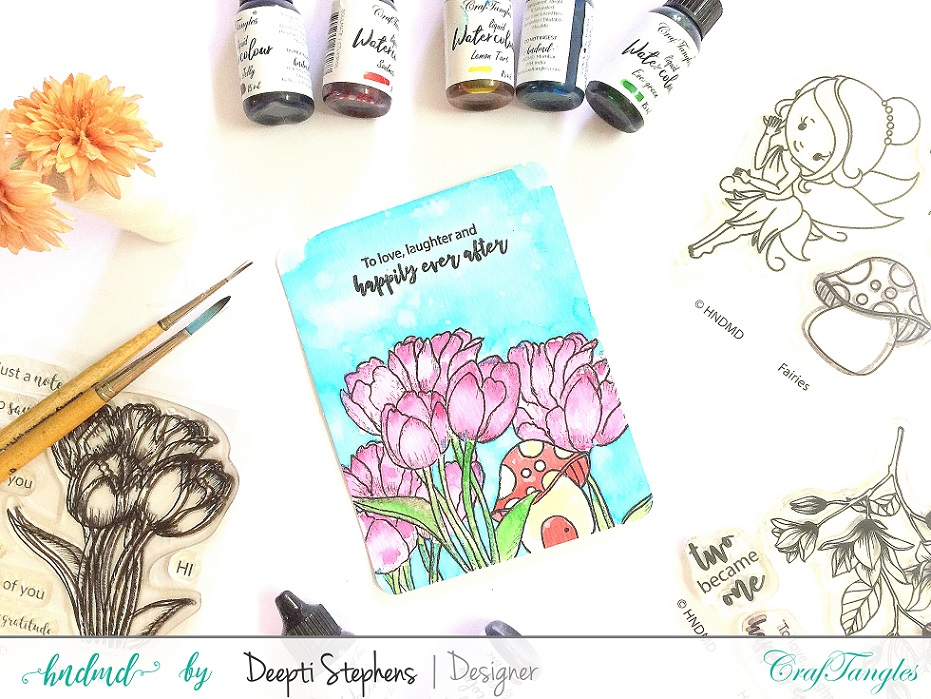 ART WITH CRAFTANGLES LIQUID WATER COLORS   VIDEO 1