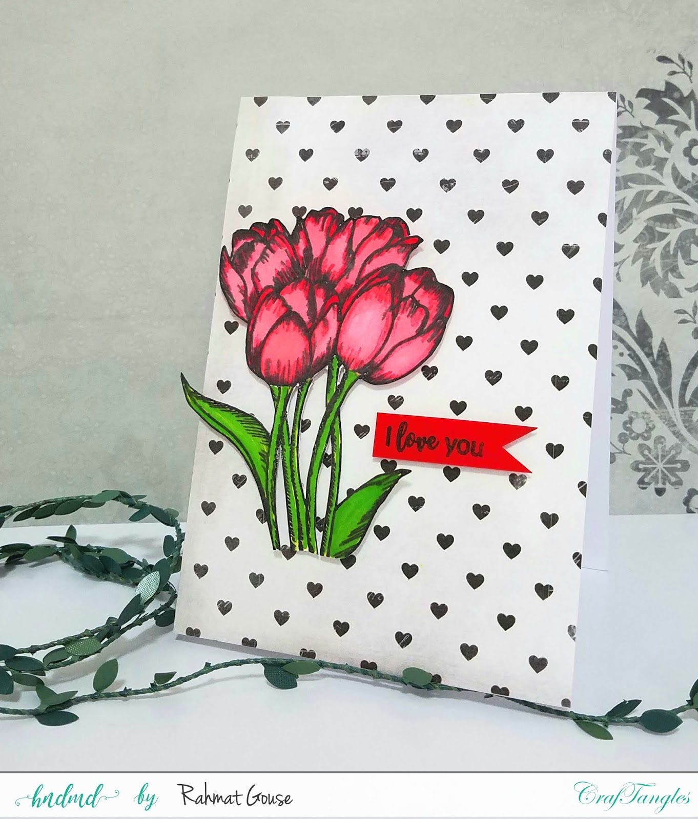 Pattern paper and flower stamps 4