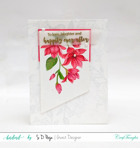 Floral cards using CrafTangles Liquid Watercolours 6