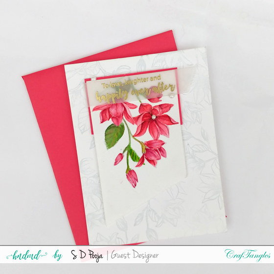 Floral cards using CrafTangles Liquid Watercolours 7
