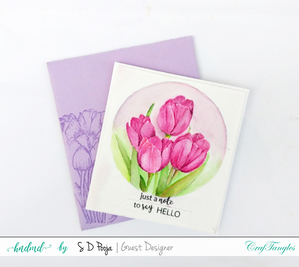 Floral cards using CrafTangles Liquid Watercolours 3