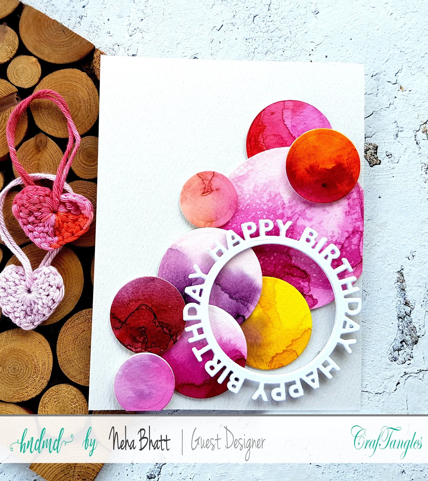 CrafTangles liquid Watercolors cards on watercolor and Yupo Paper by Neha Bhatt 19