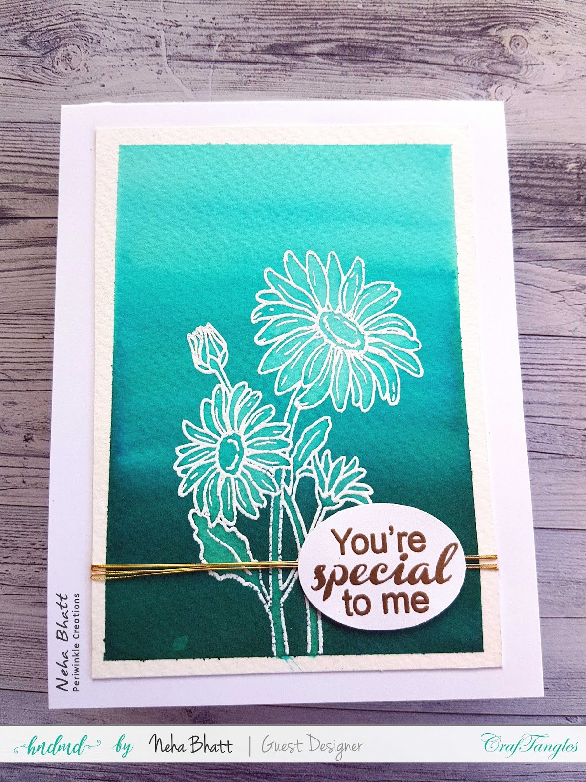 CrafTangles liquid Watercolors cards on watercolor and Yupo Paper by Neha Bhatt 3