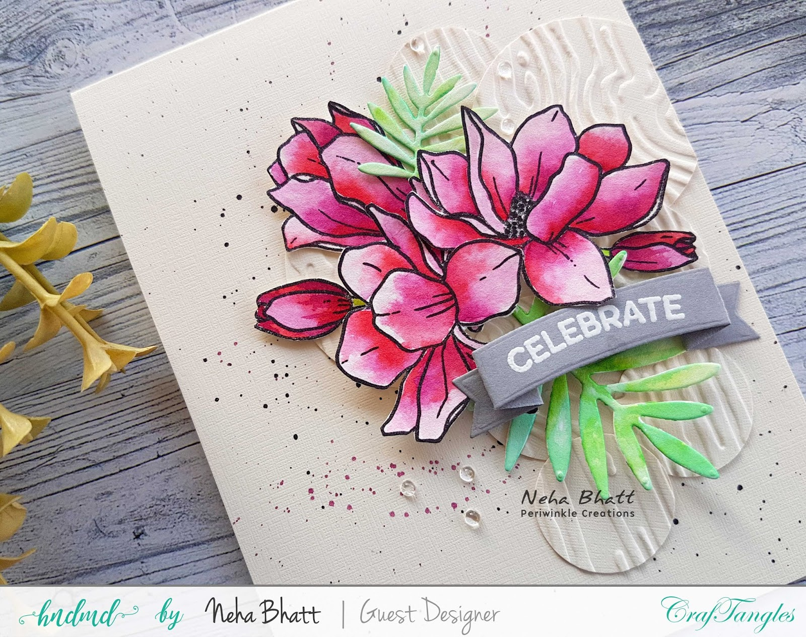 CrafTangles liquid Watercolors cards on watercolor and Yupo Paper by Neha Bhatt 10