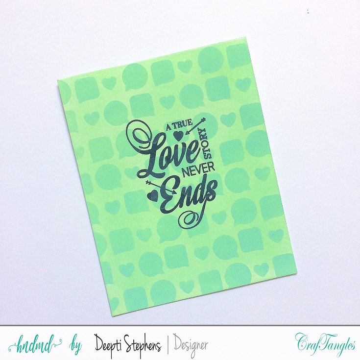 ONE LAYER LOVE THEMED CARDS 4