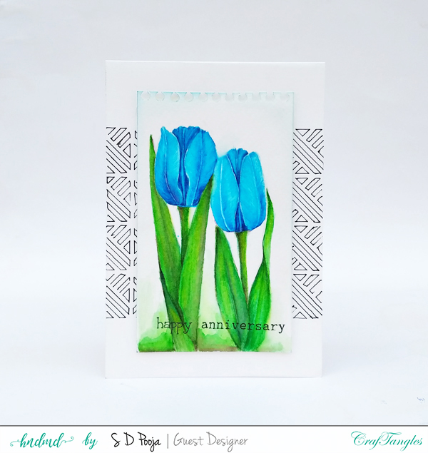 Fun floral cards by Pooja using CrafTangles Liquid watercolors 1