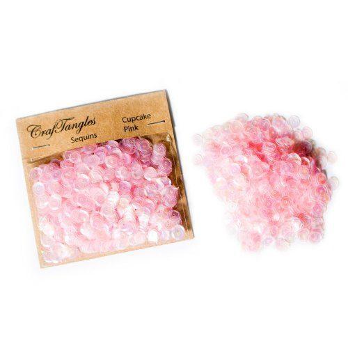 CrafTangles Sequins - Cupcake Pink
