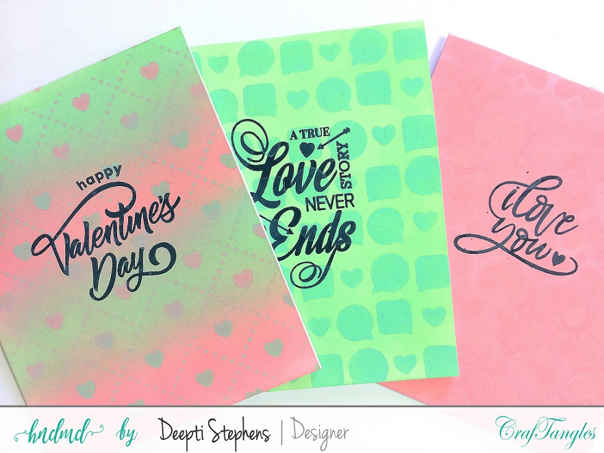 ONE LAYER LOVE THEMED CARDS 1