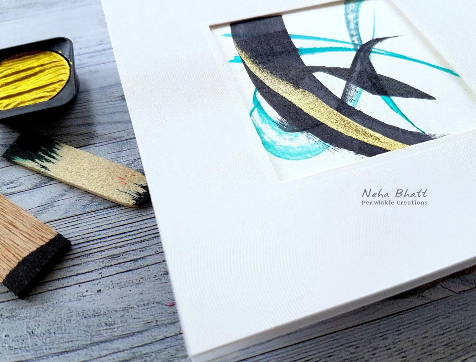 Various ways to use CrafTangles liquid watercolors by Neha Bhatt 11