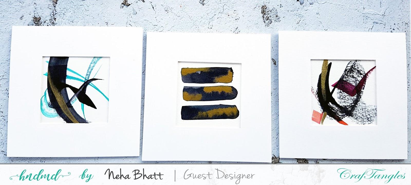 Various ways to use CrafTangles liquid watercolors by Neha Bhatt 8
