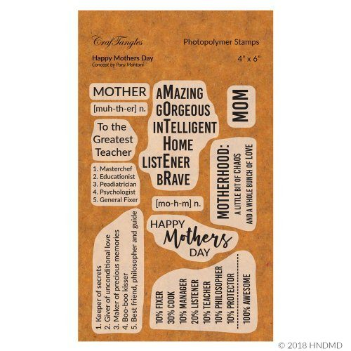CrafTangles Photopolymer Stamps - Happy Mothers Day
