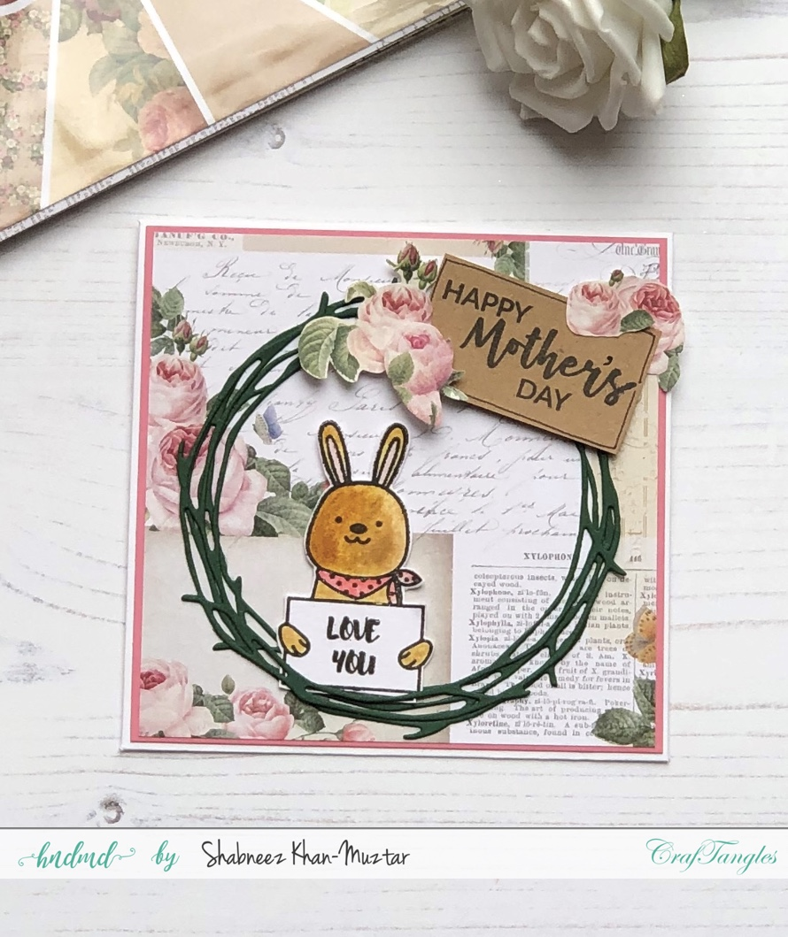 Cards for Mothers Day Using CrafTangles Hug Me Stamp Set 2
