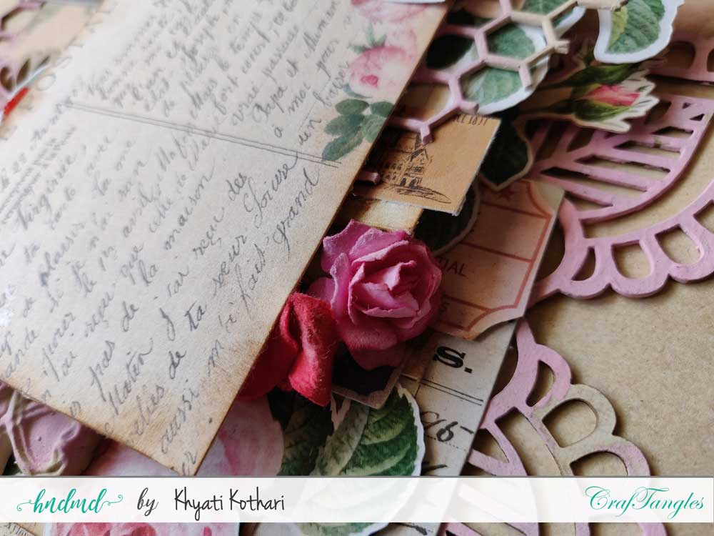 Two mixed media Layouts using Vintage Roses papers and Element packs 3