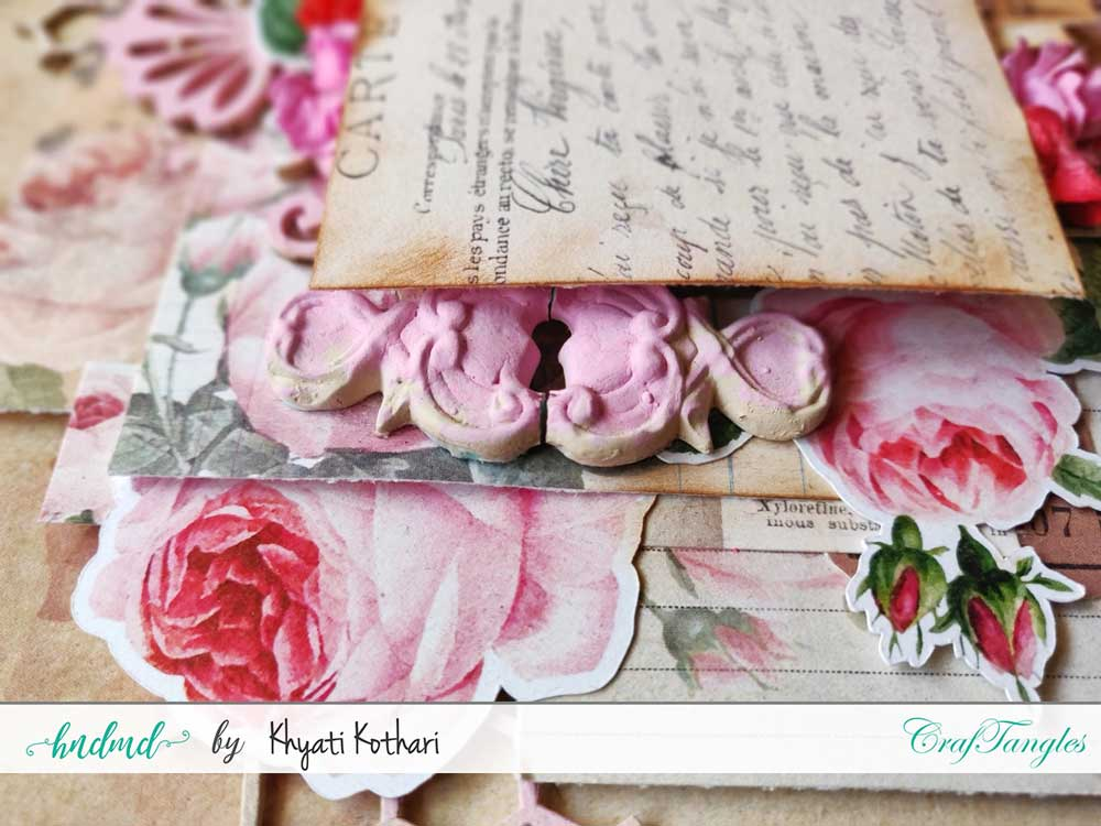 Two mixed media Layouts using Vintage Roses papers and Element packs 5