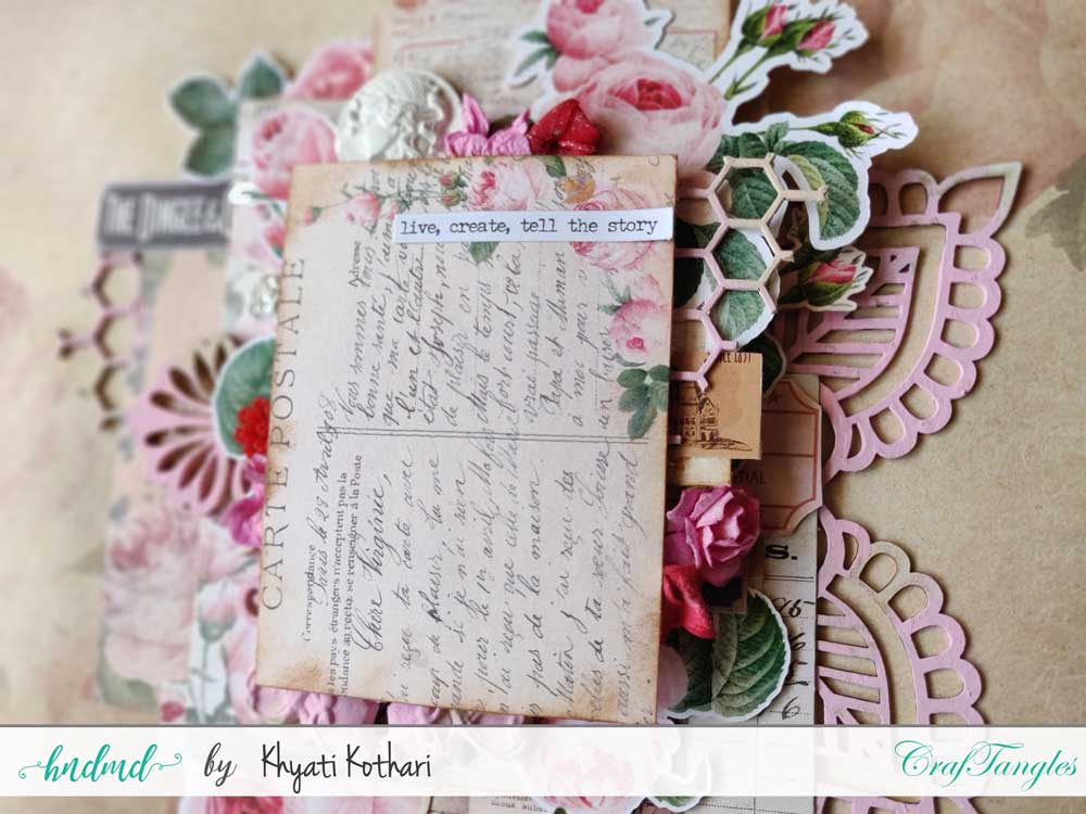 Two mixed media Layouts using Vintage Roses papers and Element packs 6