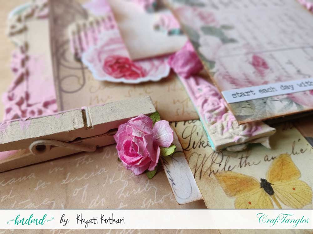 Two mixed media Layouts using Vintage Roses papers and Element packs 10