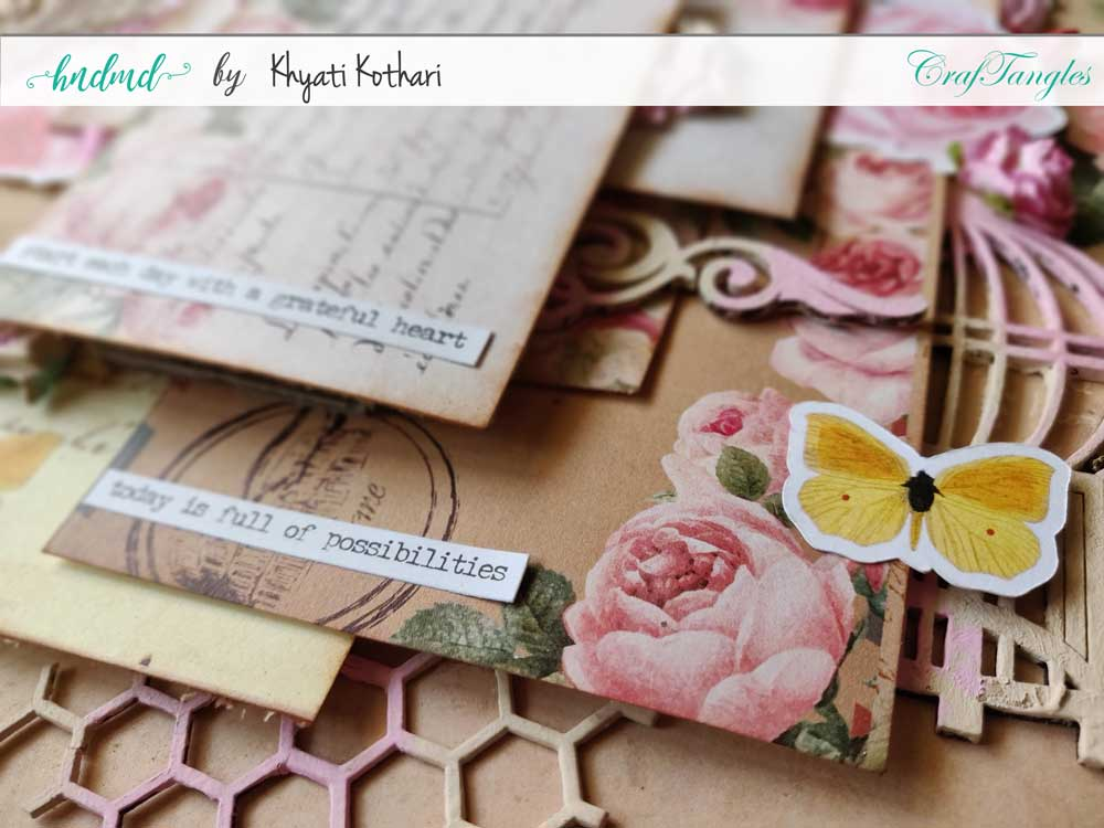 Two mixed media Layouts using Vintage Roses papers and Element packs 11