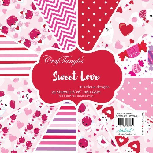 "CrafTangles Scrapbook Paper Pack - Sweet Love (6""x6"")"