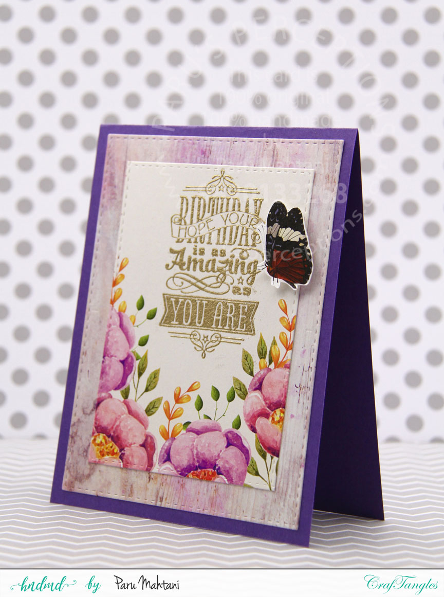 "Floral cards using Craftangles ""Countryside"" patterned paper and element packs 3"