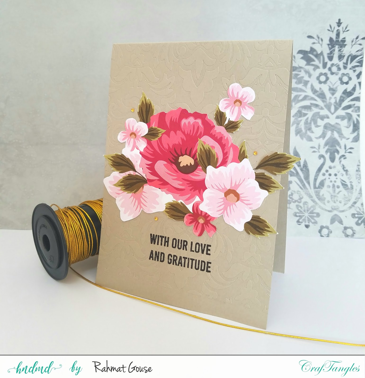 Floral elements pack, stencil, and stamping 5