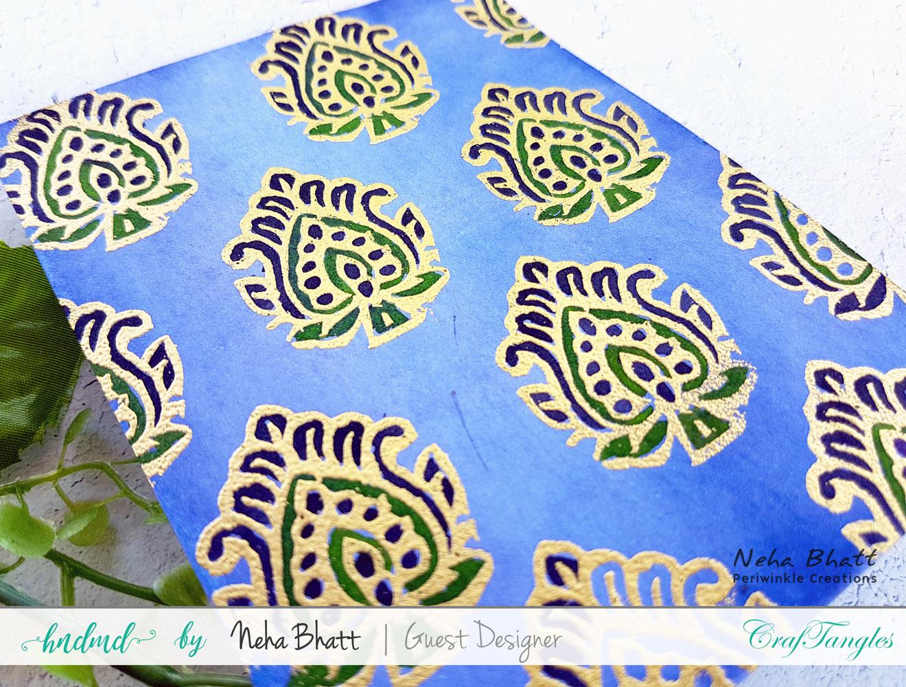 Fun watercolor inspirations by Neha Bhatt using CrafTangles liquid watercolors 11