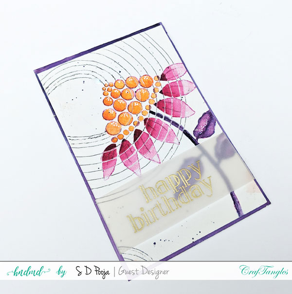 Some inspirations by SD Pooja using the newly April CrafTangles liquid watercolors 7