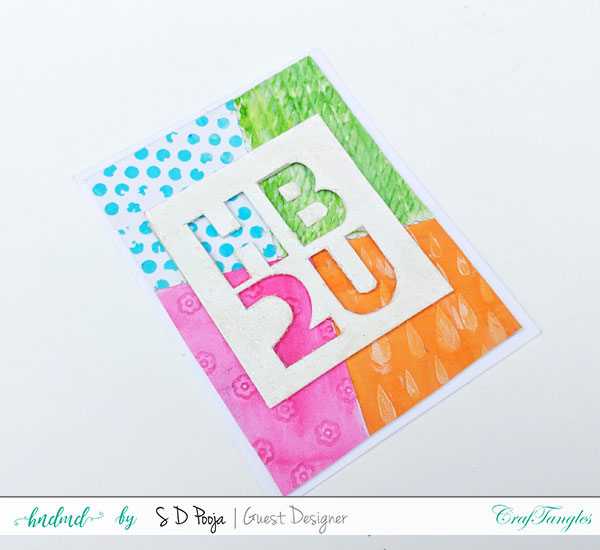 Some inspirations by SD Pooja using the newly April CrafTangles liquid watercolors 5