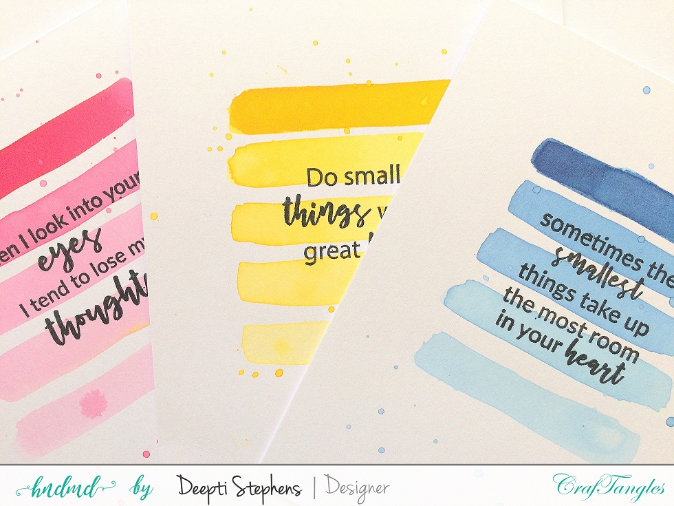 SIMPLE OMBRE WATER COLOR CARDS 1