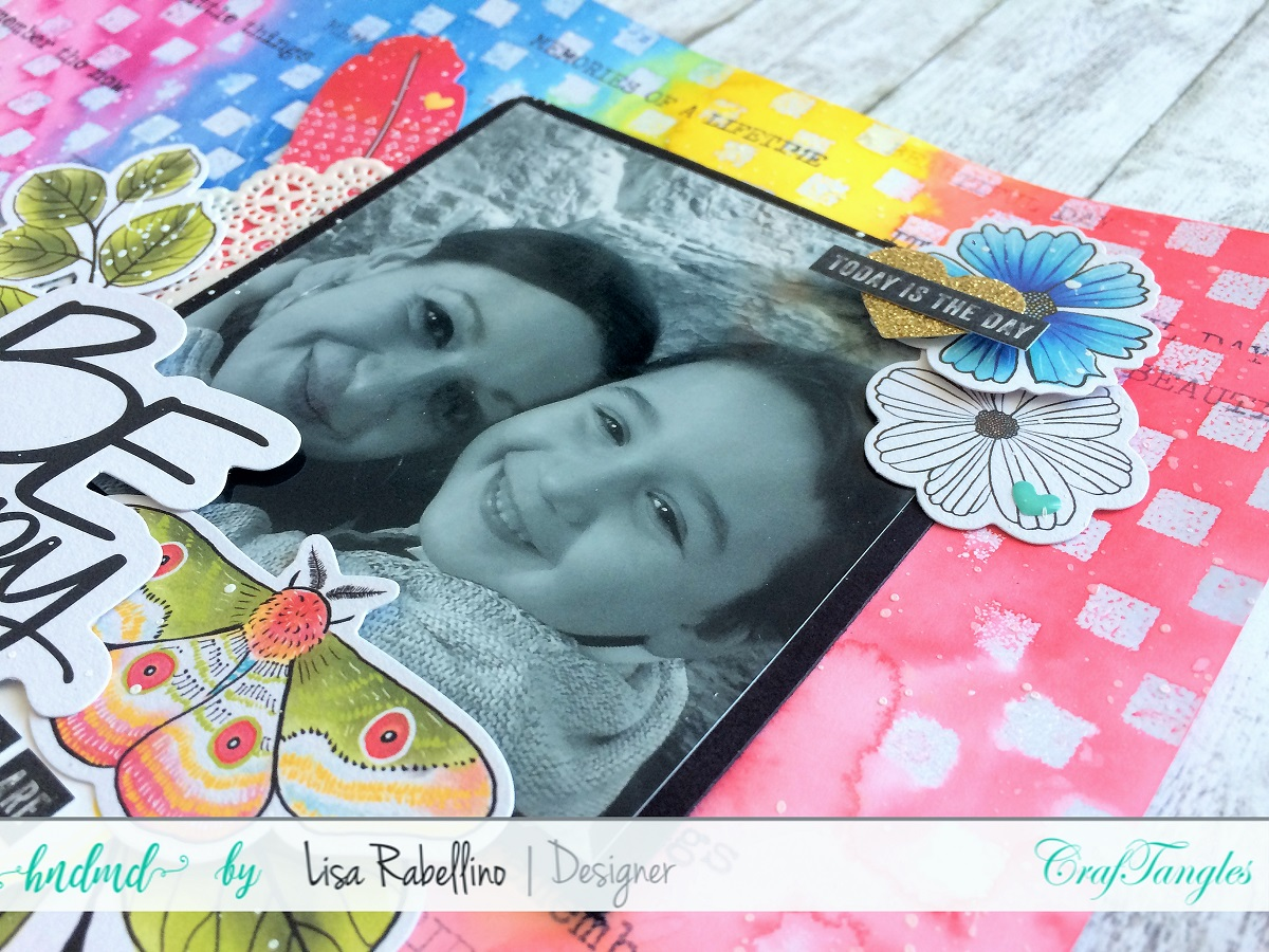 Rainbow Layout with Craftangles Color Mists 4