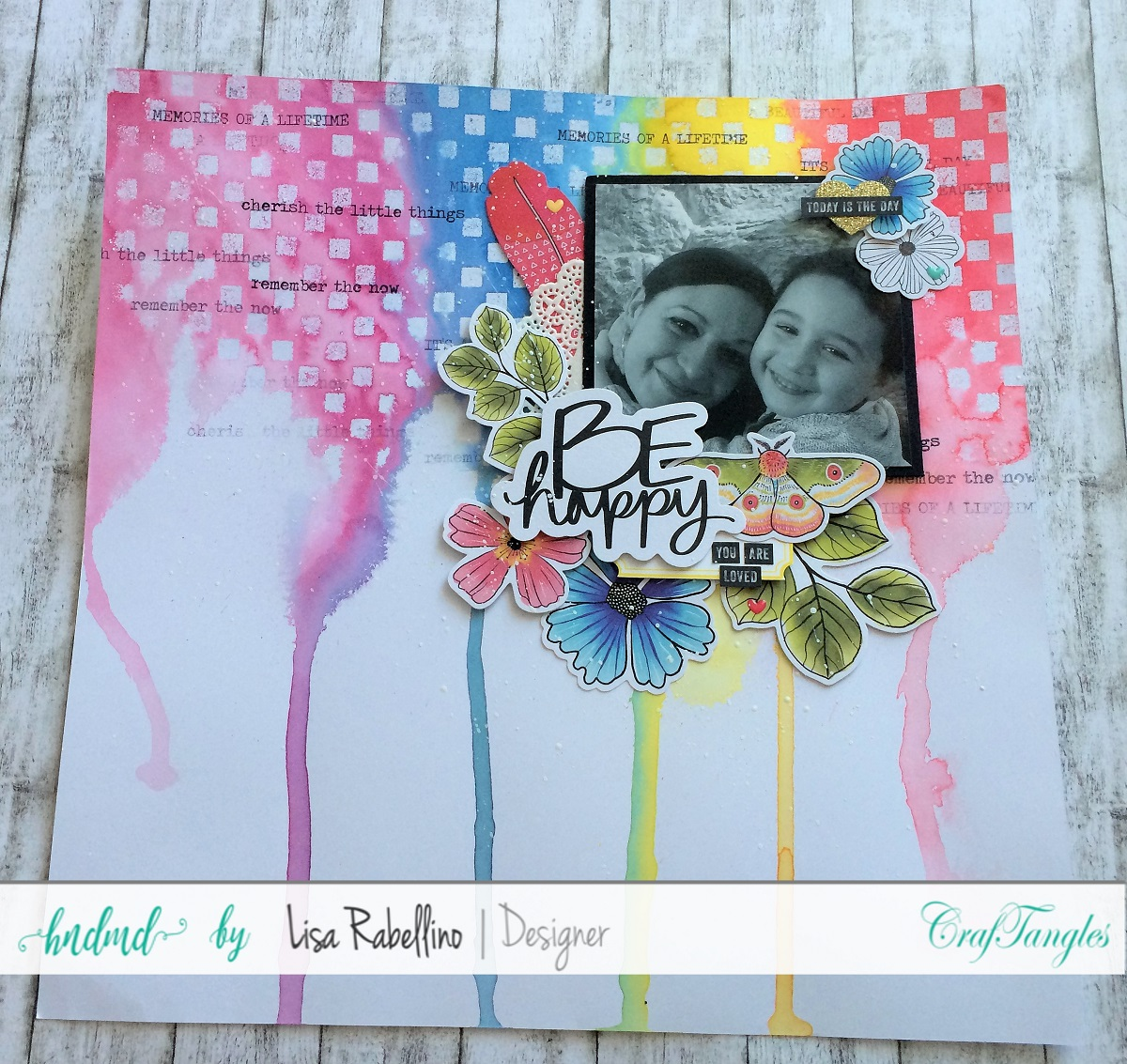 Rainbow Layout with Craftangles Color Mists 1
