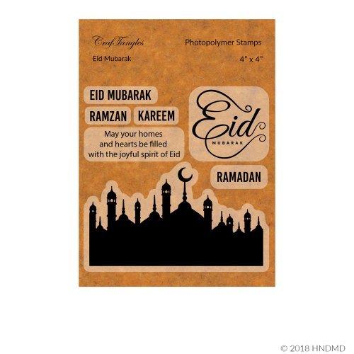 CrafTangles Photopolymer Stamps - Eid Mubarak