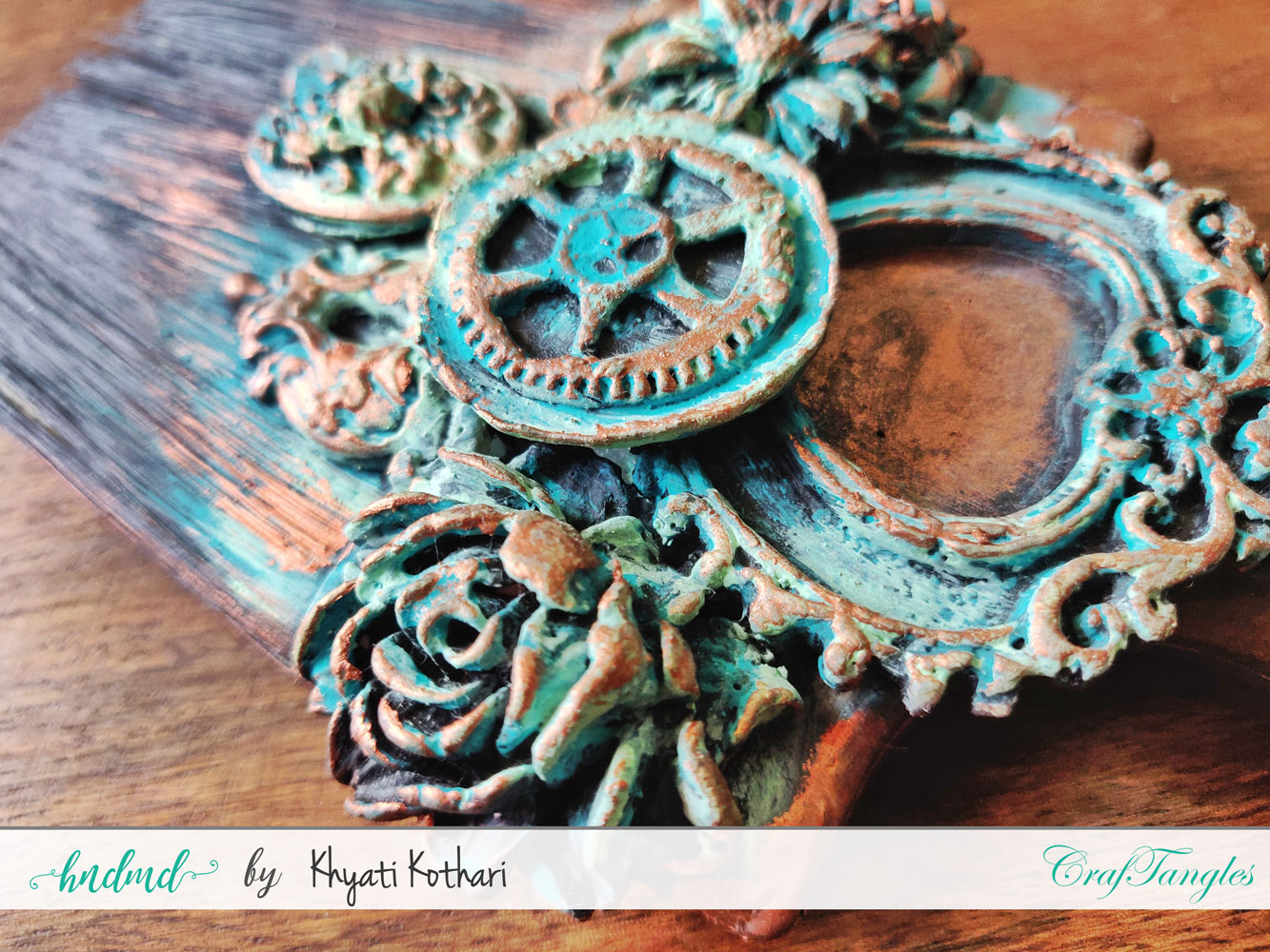 A few altered art ideas using CrafTangles products 5